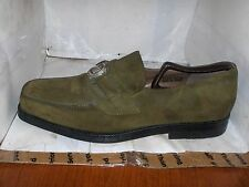FRATELLI MENS GREEN SUEDE PENDANT LOAFERS SIZE 8.5M 9719