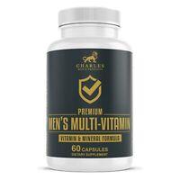 Premium Multivitamin for Men   Vegan Mens Multivitamin with Calcium, B12, Biotin