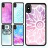 iPhone X 8 8 Plus 7 6 6s 5s SE Case Mandala Pattern Bumper Print Cover For Apple