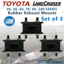 Rubber Exhaust Mount for Toyota Landcruiser 40 60 70 80 100 Series Set 3 Mounts