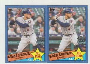(2) George Springer 2020 TOPPS UPDATE 1985 TOPPS ALL-STAR BLUE BORDER LOT