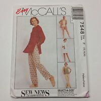 McCall's Sewing Pattern #7548 Misses Jacket, Skirt, Pants, Shorts Choose Size