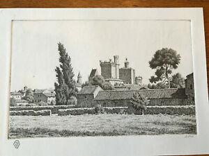 Ian Strang ORIGINAL ETCHING (Posthumous Re-strike): Ducal palace (Duche), Uzes.