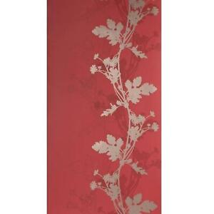 Red And Gold Trail Botanic Wallpaper Matt Finish Feature Wall Traditional