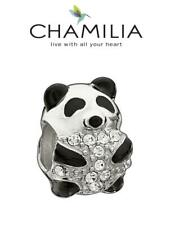 Genuine CHAMILIA 925 sterling silver Swarovski PANDA BEAR charm bead, China