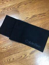 Calvin Klein unisex scarf black Gray Acrylic Reversible 65' Length
