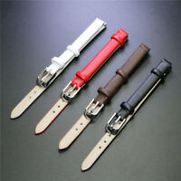 Women Ladies Casual Genuine Leather Watch Band Soft Plain Wristwatch Strap 8mm