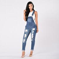 Fashion Women Straps Jumpsuit Denim Jeans Bib Pants Overalls Rompers Trousers 34