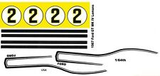 #2 Ford GT MK IV Le Mans 1967 1/64th HO SLot Car Waterslide Decals
