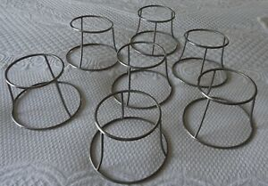 (7) Metal Guard Lamp Shade Cage For glass shade covers