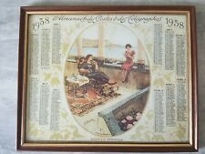 Cadre avec photo de calendrier 1938
