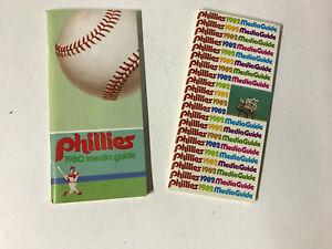 PHILADELPHIA PHILLIES ~ 1980 and 1982 MEDIA GUIDES~ COMPLETE WITH NO MARKINGS
