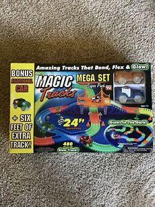 Ontel Magic Tracks Mega Set with 2 LED Race Car -  24 FT - New in box as pict