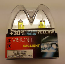 H7 55w Gelb Halogenlampe +50% Xenon 30% Laser MEGA