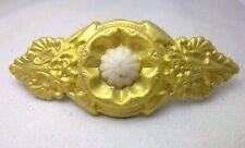 LARGE GOLD COLOR FAUX BONE HAIR CLIP ACCESORY BARRETTE