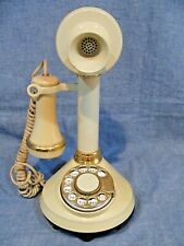 ** AMERICAN TELECOMMUNICATIONS CANDLESTICK TELEPHONE CREAM * ROTARY DIAL 1973 **