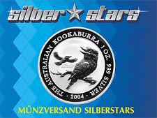 1 OZ Silber Kookaburra 2004 999 Silver TOP ANLAGE Selten