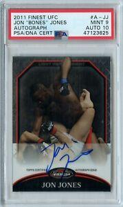 2011 Topps Finest UFC Jon Jones Auto #A-JJ PSA 9 Auto 10 POP 2 Rare LHW CHAMPION