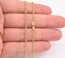 """Oval Rolo Charm Link Chain Ankle Bracelet Anklet Real 10K Yellow Gold 10"""""""