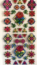 4 Bundle Transparent ROSES CATHEDRAL Window Stained Glass Film Sticker