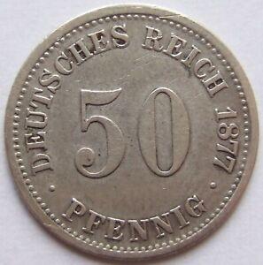 50 Pfennig 1877 H in fast Sehr schön !!!