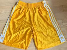 Rare Vintage Adidas Basic Basketball Shorts Dazzle Soft Shiny Yellow Gold MEDIUM