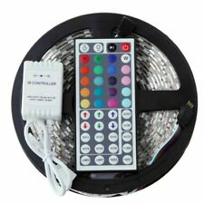 5M SMD RGB 5050 Waterproof LED Strip Light 300 & 44 Key Remote 12-Volt Supply...
