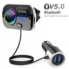 KFZ Bluetooth V5.0 FM Transmitter Auto USB Charger Freisprechanlage MP3 Player