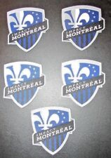 Lot of 5 Montreal Impact Primary Soccer Team Crest Pro-Weave MLS Futbol Patch