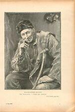 Portrait Jacques-Antoine Bouville par Tattegrain GRAVURE ANTIQUE OLD PRINT 1909