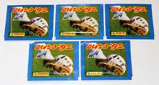 Panini EM EC Euro 92 1992 – 5 x TÜTE PACKET BUSTINA SOBRE POCHETTE INT. ED.