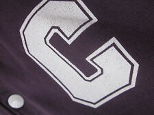 Carhartt Baseball Jacket (M) Violet Varsity bouton-Front Coton Excellent utilisé C