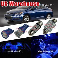 12-pc Pure Blue Interior Led Light Package Inside Kit For 06-12 Honda Civic