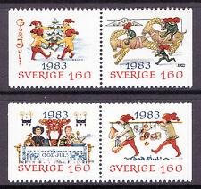 Mint Never Hinged/MNH Swedish Seasonal, Christmas Stamps