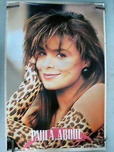 RARE SEXY PAULA ABDUL 1990 VINTAGE ORIGINAL MUSIC POSTER