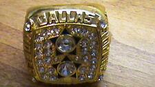 1977~Dallas Cowboys Super Bowl Championship Ring~MVP Roger Staubach~Gold Plate