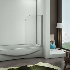 800x1400mm Chrome 180° Pivot Shower Bath 6mm Tempered Glass Screen Panel