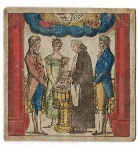 Uralte kolorierter Taufbrief 1817 Görlitz ! (A4133