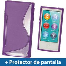 Violeta Case TPU Gel para Nuevo Apple iPod Nano 7ª Generación 7G TPU Funda Cover