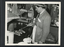 SPENCER TRACY COOKS SOME STEAKS ON LOCATION -1937 CANDID - THEY GAVE HIM A GUN