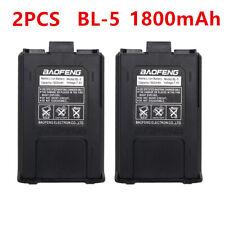 2x Baofeng/BL-5 1800mAh 7.4V Extended Li-ion Bateria Para Rádio UV-5R