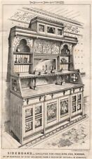 Sideboard, for Fred Bird, Windsor, by Satchell & Edwards 1872 old print