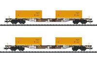 """Trix H0 24136 Containertragwagen-Set """"Erdaushub Stuttgart 21"""" der AAE NEU + OVP"""