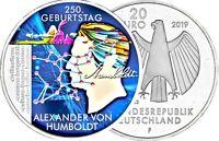 Deutschland 20 Euro 2019 Alexander von Humboldt in Farbe