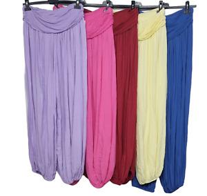 New Lagenlook BOHO Hippy Harem Ali Baba baggy Loose Plain Yoga Trouser Pant