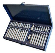 "927040 40pc Torx Star Spline Hex Allen Key Socket Bit Set 3/8"" & 1/2"" S2 Steel"