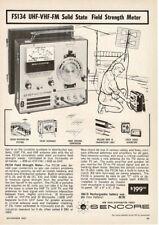 1967 Sencore FS134 Field Strength Meter Tester Analyzer Vtg Print Ad