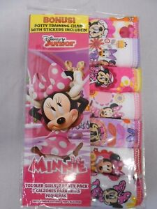 Minnie Mouse Panties Toddler/Little Girls' 7-pack Briefs Sizes 2T/3T, 4T, 4, 6,8