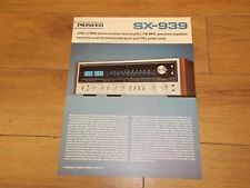 Pioneer SX-939 stereo receiver original catalogue