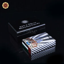 WR Dubai Design Silver Plated Playing Card Casino  Deck + Gift Box Collectible